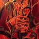 Africa. The Masks the artwork by Olga Petrovskaya-Petovraji