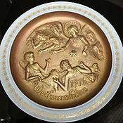 Винтаж handmade. Livemaster - original item Beautiful, original, Christmas plate, Hutschenreuter, Germany. Handmade.
