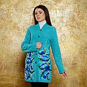 Одежда ручной работы. Ярмарка Мастеров - ручная работа Пальто летнее Бирюза. Handmade.