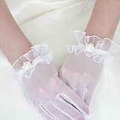 Перчатки ручной работы. Ярмарка Мастеров - ручная работа Перчатки: Свадебные перчатки. Handmade.