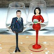 Посуда handmade. Livemaster - original item Glasses on a wedding anniversary. Handmade.