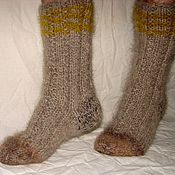 Аксессуары handmade. Livemaster - original item Socks cashmere thick art No. 55m of dog hair .. Handmade.