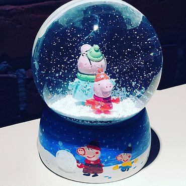 Сувениры и подарки ручной работы. Ярмарка Мастеров - ручная работа Сувениры: снежный шар. Handmade.