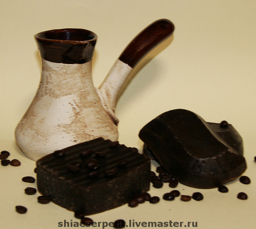 Мыло натуральное ручной работы Кофе по-бедуински