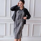 Одежда handmade. Livemaster - original item Striped viscose shirt dress. Handmade.