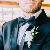 Аксессуары handmade. Livemaster - original item Tie Classic black / matte black bow tie. Handmade.