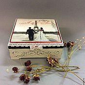 """Подарки к праздникам ручной работы. Ярмарка Мастеров - ручная работа """"Про любовь""""  Шкатулка для украшений. Handmade."""
