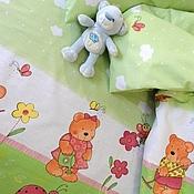 Для дома и интерьера ручной работы. Ярмарка Мастеров - ручная работа Комплект постельного белья для новорожденного. Handmade.