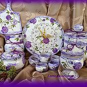 Посуда handmade. Livemaster - original item A set of wooden utensils for the kitchen,