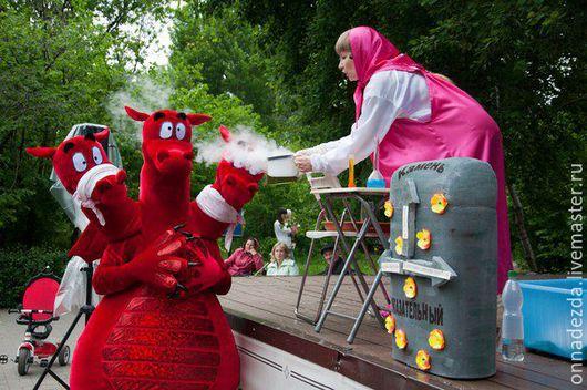 Карнавальные костюмы ручной работы. Ярмарка Мастеров - ручная работа. Купить Змей Горыныч. Handmade. Ярко-красный, ростовая кукла