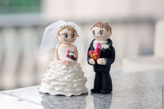 Свадебные аксессуары ручной работы. Ярмарка Мастеров - ручная работа. Купить Фигурки на торт и не только. Handmade. Комбинированный, полимерная глина deco