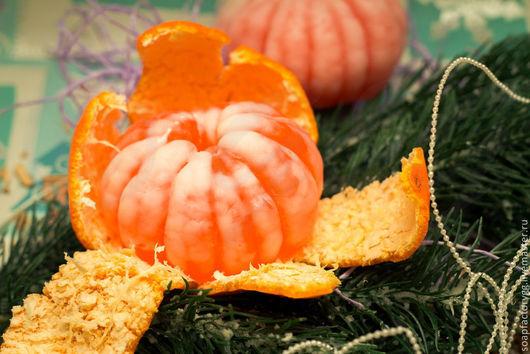 """Мыло ручной работы. Ярмарка Мастеров - ручная работа. Купить Мыло """"Очищенный мандарин"""". Handmade. Оранжевый, сувенир, подарок 2015"""