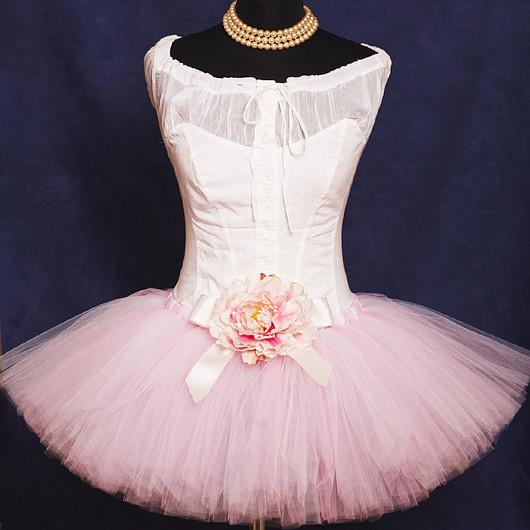 """Юбки ручной работы. Ярмарка Мастеров - ручная работа. Купить """"Розовая акварель"""" взрослая пышная юбка-пачка из фатина. Handmade."""