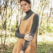 """Одежда ручной работы. Ярмарка Мастеров - ручная работа Платье """"Мои тропинки""""(войлок, эко-крашение). Handmade."""