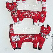 Куклы и игрушки ручной работы. Ярмарка Мастеров - ручная работа Ох! Коты и кошечки! Красные в горох! (магниты). Handmade.