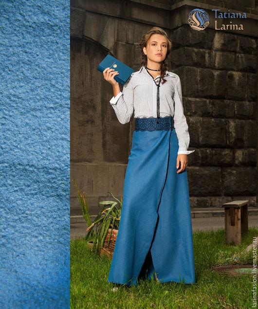 Модные юбки от Татьяны Лариной. Длинная теплая  юбка в пол на осень, зиму и весну. Юбка из шерсти, юбка с кружевом, романтичный стиль. Юбка в пол.