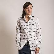 Одежда ручной работы. Ярмарка Мастеров - ручная работа блузка птицы long. Handmade.