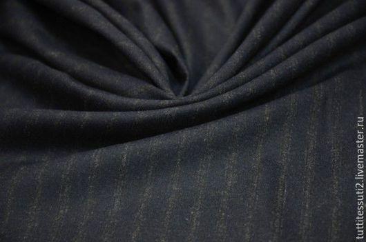Шитье ручной работы. Ярмарка Мастеров - ручная работа. Купить Костюмная ткань 05-003-1966. Handmade. Тёмно-синий
