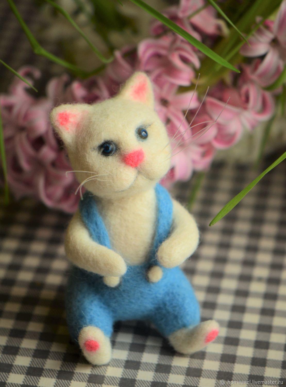 Felt Spring kitten, Felted Toy, Heidelberg,  Фото №1