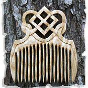 Русский стиль ручной работы. Ярмарка Мастеров - ручная работа Обережный деревянный гребень МАКОШЬ. Handmade.