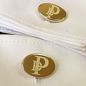 Подарки ручной работы. Ярмарка Мастеров - ручная работа Золотые запонки овал с гравировкой инициалов. Handmade.