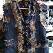 Одежда handmade. Livemaster - original item Leather fur vest for women.Sheepskin. Handmade.