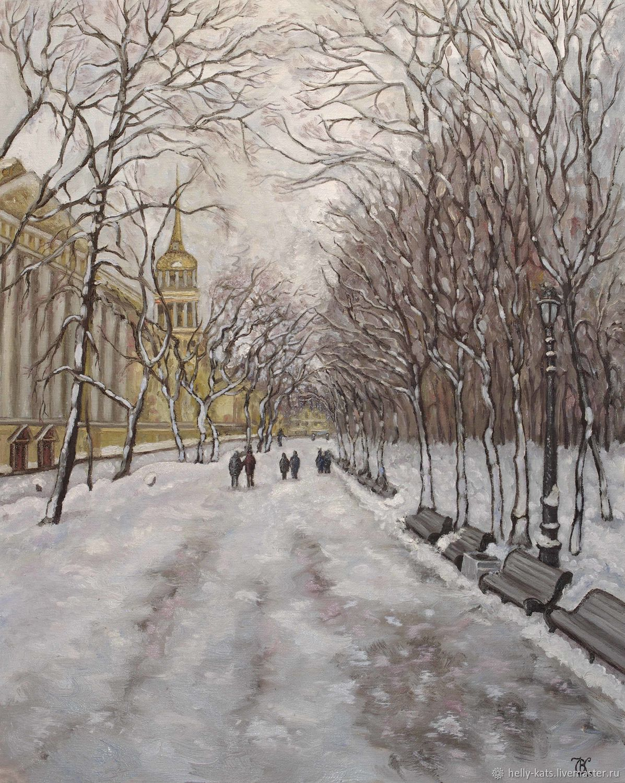 Прогулка в Александровском парке, Картины, Санкт-Петербург,  Фото №1