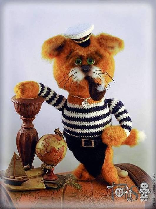 Игрушки животные, ручной работы. Ярмарка Мастеров - ручная работа. Купить Рыжий Боцман. Handmade. Рыжий, кот моряк