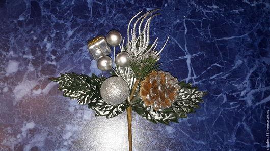 Материалы для флористики ручной работы. Ярмарка Мастеров - ручная работа. Купить Новогодний букет. Handmade. Разноцветный, новогодний сувенир