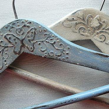 Для дома и интерьера ручной работы. Ярмарка Мастеров - ручная работа вешалки для одежды (декупаж, плечики для одежды, вешалки-плечики). Handmade.