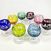 Винтаж handmade. Livemaster - original item Glasses shot glasses grapes colored crystal Nachtmann Nachtmann. Handmade.