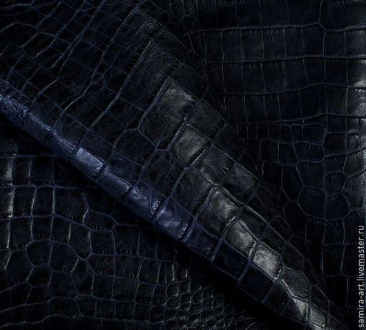 """Шитье ручной работы. Ярмарка Мастеров - ручная работа. Купить Кожа натуральная. Принт """"Крокодил"""". Handmade. Черный, кожа натуральная"""