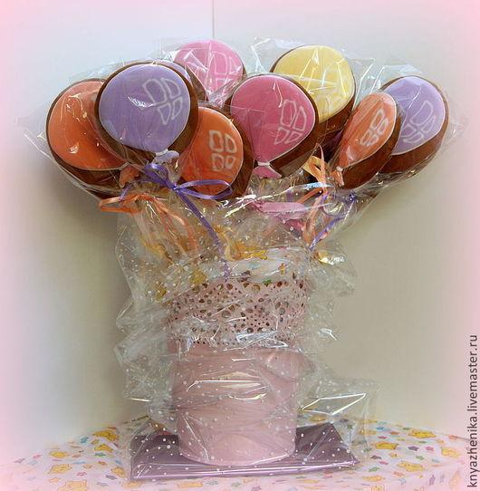 Кулинарные сувениры ручной работы. Ярмарка Мастеров - ручная работа. Купить Пряничные воздушные шары, подарочный набор. Handmade. детям