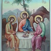 Иконы ручной работы. Ярмарка Мастеров - ручная работа Святая Троица. Handmade.