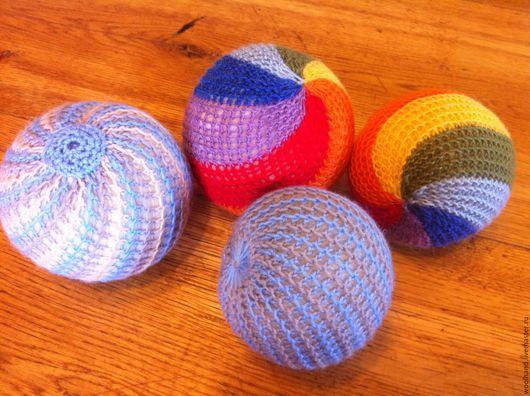 Развивающие игрушки ручной работы. Ярмарка Мастеров - ручная работа. Купить Мячики вязаные. Handmade. Комбинированный, мячик, вальдорфская игрушка