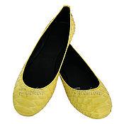 Обувь ручной работы handmade. Livemaster - original item Ballet flats from Python SPRING. Handmade.