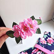 Аксессуары ручной работы. Ярмарка Мастеров - ручная работа Ободок с цветами персика. Handmade.