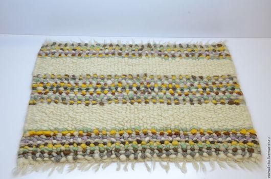Текстиль, ковры ручной работы. Ярмарка Мастеров - ручная работа. Купить Коврик из овечьей шерсти KB025m. Handmade. комбинированный