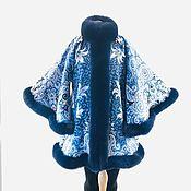 Одежда handmade. Livemaster - original item Coat: from pavlogoradsky shawls with fur. Handmade.