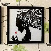 """Картины и панно ручной работы. Ярмарка Мастеров - ручная работа Триптих """"Девушки"""". Handmade."""