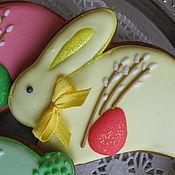 """Сувениры и подарки ручной работы. Ярмарка Мастеров - ручная работа """"Пасхальный заяц""""-имбирный пряник. Handmade."""