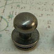 Материалы для творчества ручной работы. Ярмарка Мастеров - ручная работа Кабурная кнопка 810 блэк никель. Handmade.