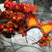 Работы для детей, ручной работы. Ярмарка Мастеров - ручная работа Ободок на праздник осени. Handmade.