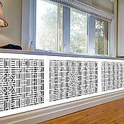 handmade. Livemaster - original item Wooden carved radiator grille. Handmade.