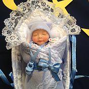 Куклы и игрушки ручной работы. Ярмарка Мастеров - ручная работа Малыш в люльке. Handmade.