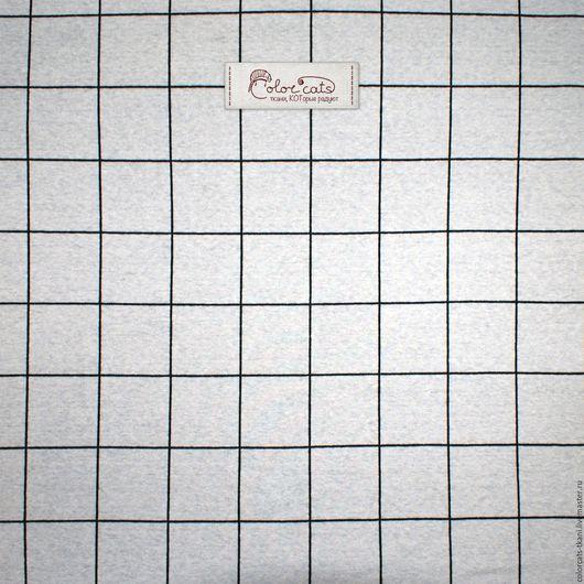 """Шитье ручной работы. Ярмарка Мастеров - ручная работа. Купить Трикотаж интерлок """"Клетка крупная"""" Т008. Handmade. Серый, интерлок"""