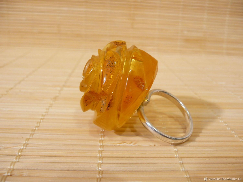 Ring of amber rose R-120, Rings, Svetlogorsk,  Фото №1