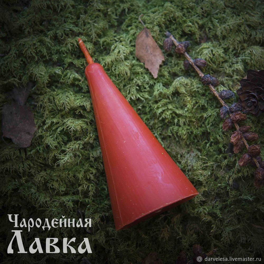 Red candle 'LOVE AND HARMONY', Candles, Abakan,  Фото №1