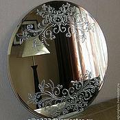 """Зеркала ручной работы. Ярмарка Мастеров - ручная работа Зеркало настенное """"Ажурное серебро"""". Handmade."""