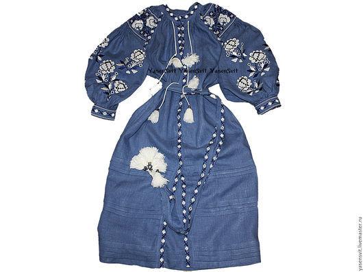 Украинское вышитое платье. Вышиванка (2013) Этно Бохо Фольклорный Вита Кин стиль)